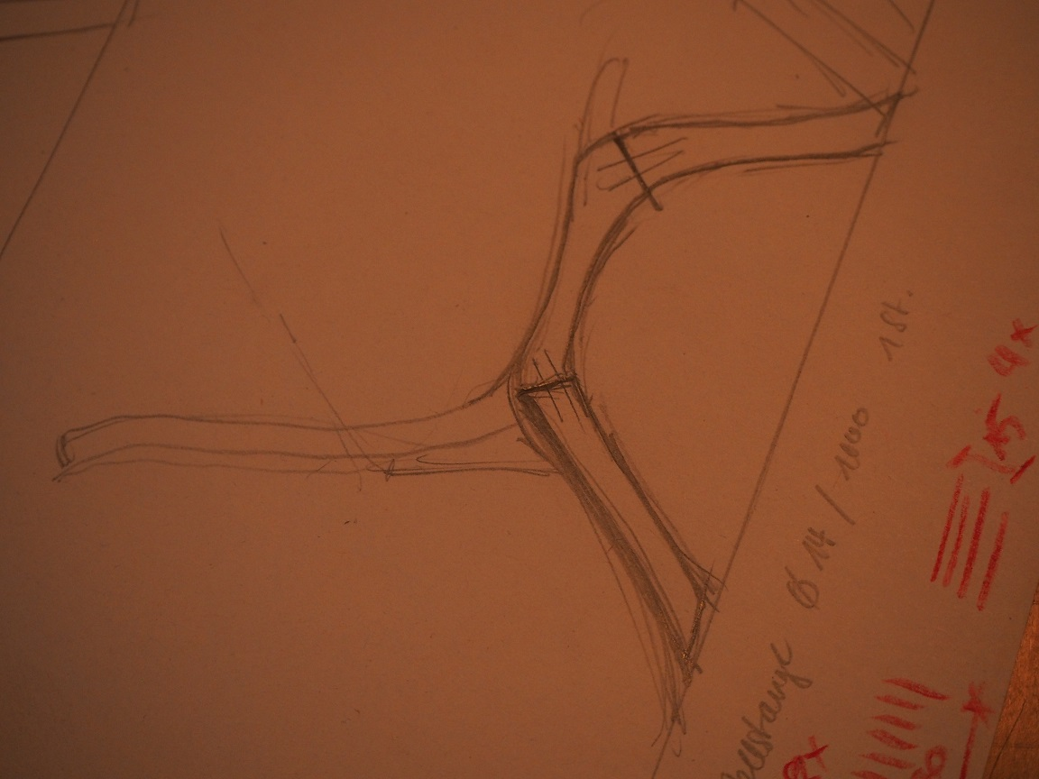 Stuhl - Entwurfszeichnung